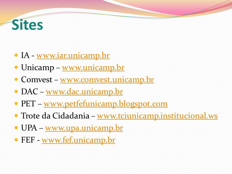Sites IA - www.iar.unicamp.br Unicamp – www.unicamp.br