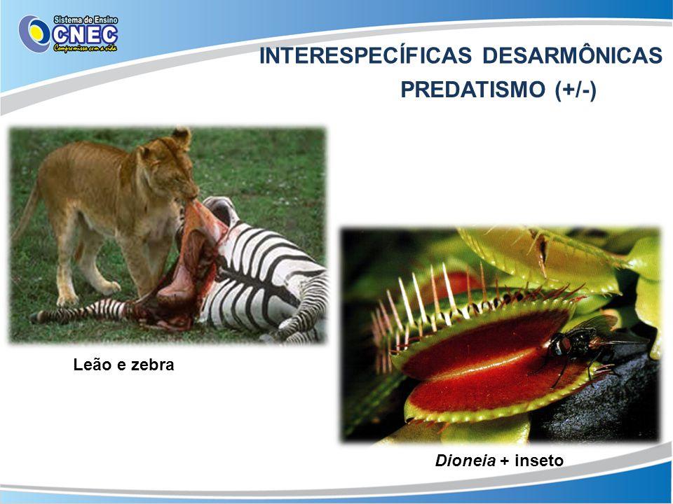 INTERESPECÍFICAS DESARMÔNICAS