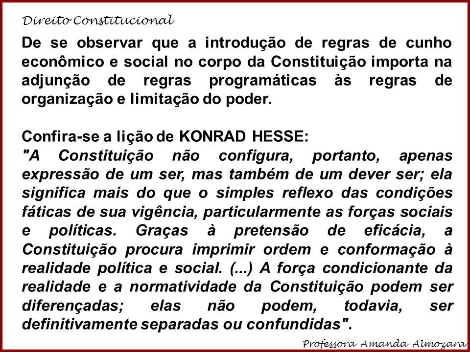 Confira-se a lição de KONRAD HESSE: