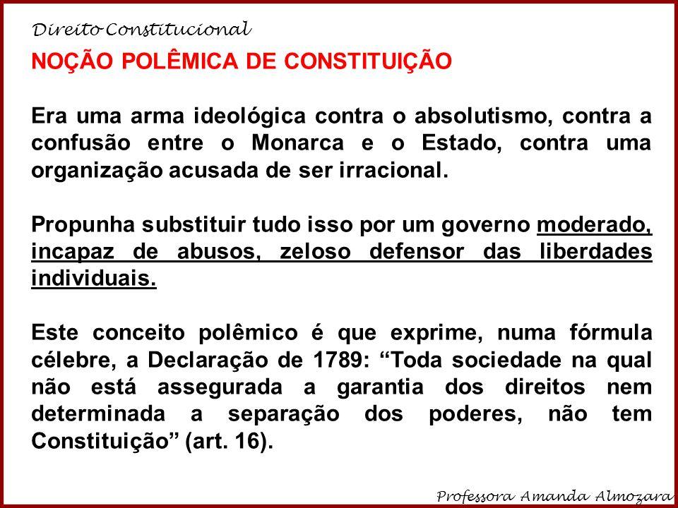 NOÇÃO POLÊMICA DE CONSTITUIÇÃO