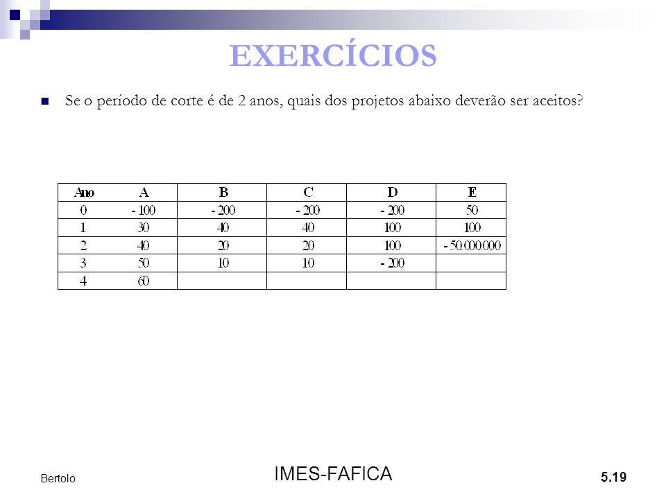 EXERCÍCIOS IMES-FAFICA