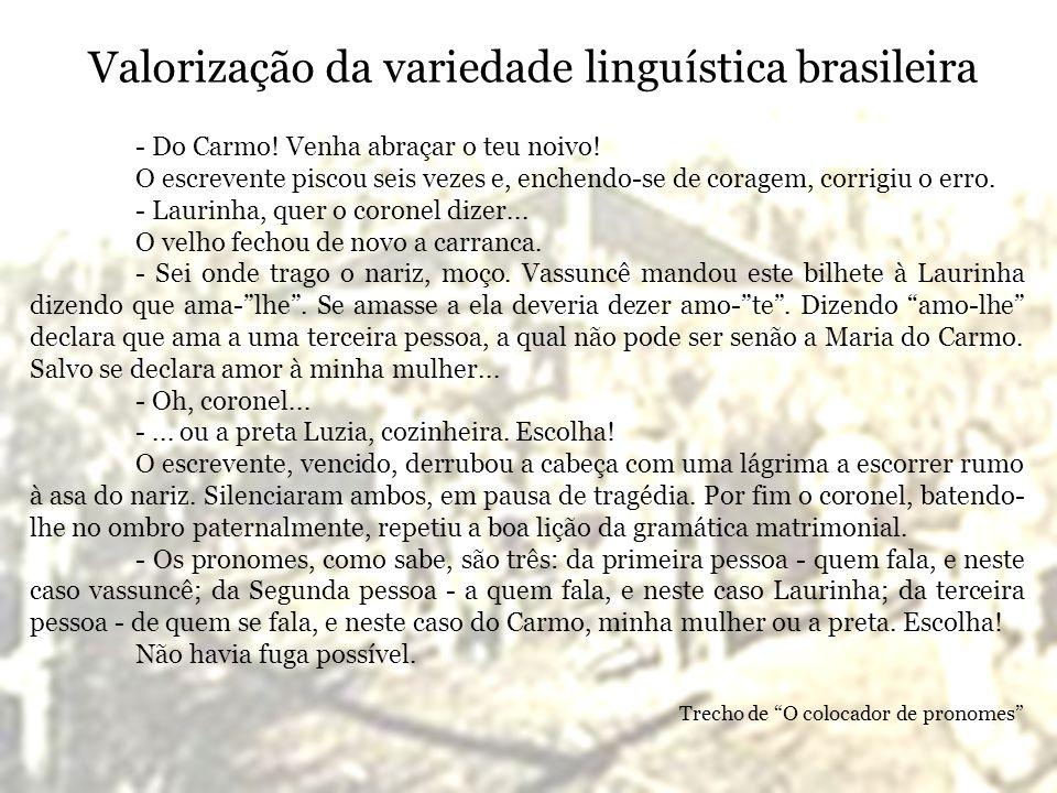 Valorização da variedade linguística brasileira