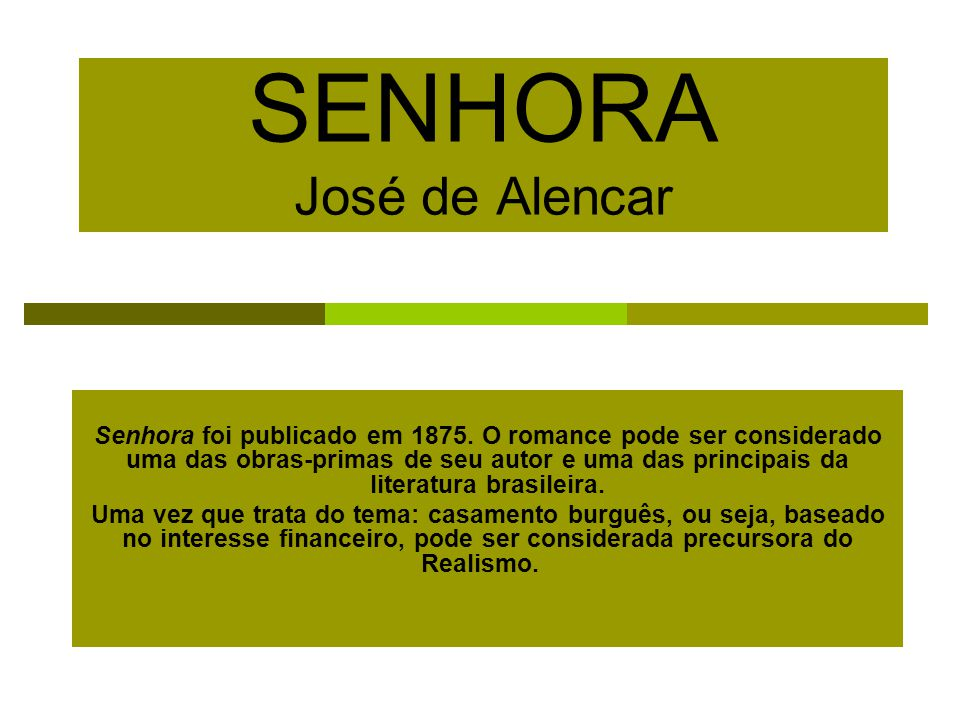 SENHORA José de Alencar