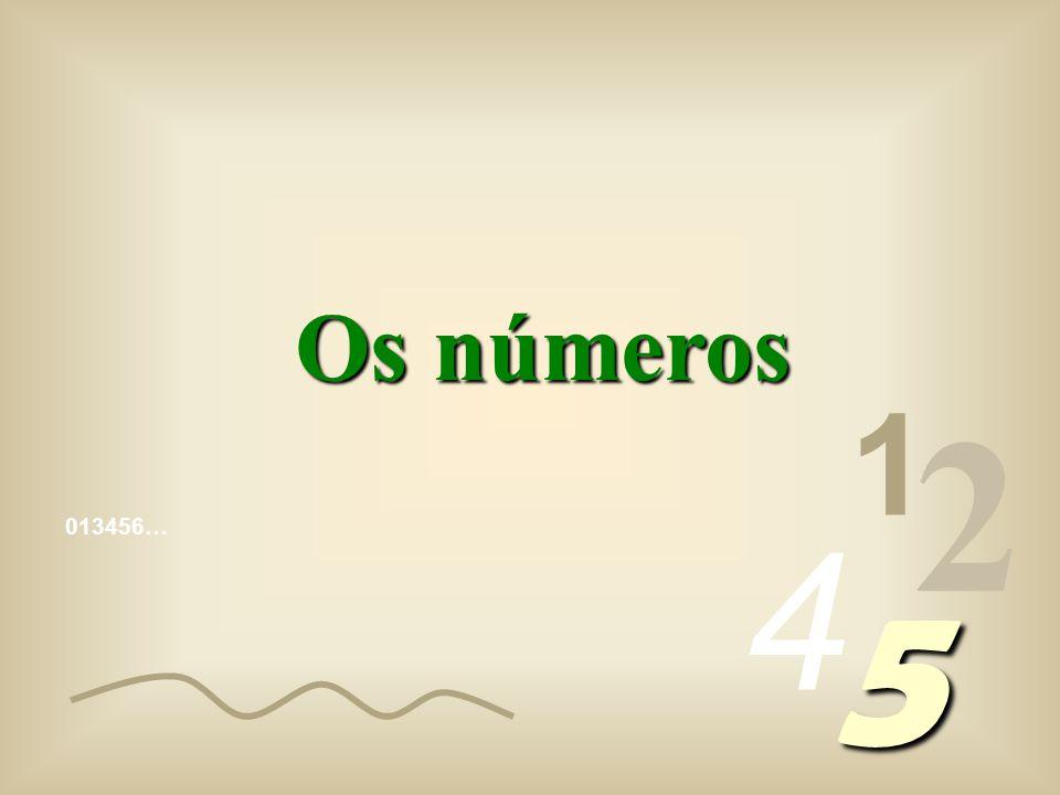 Os números 1 2 4 013456… 5