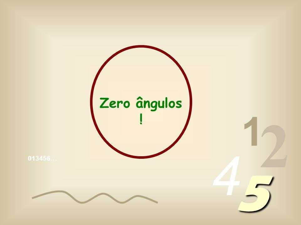Zero ângulos ! 1 2 4 013456… 5