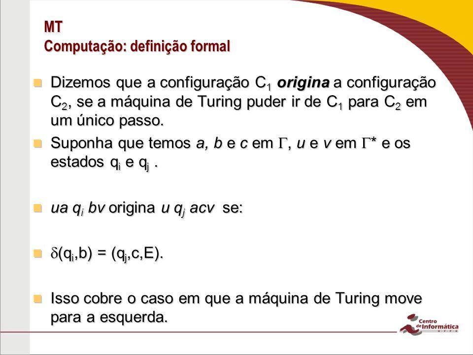 MT Computação: definição formal