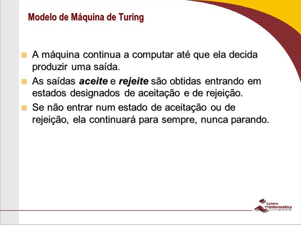 Modelo de Máquina de Turing