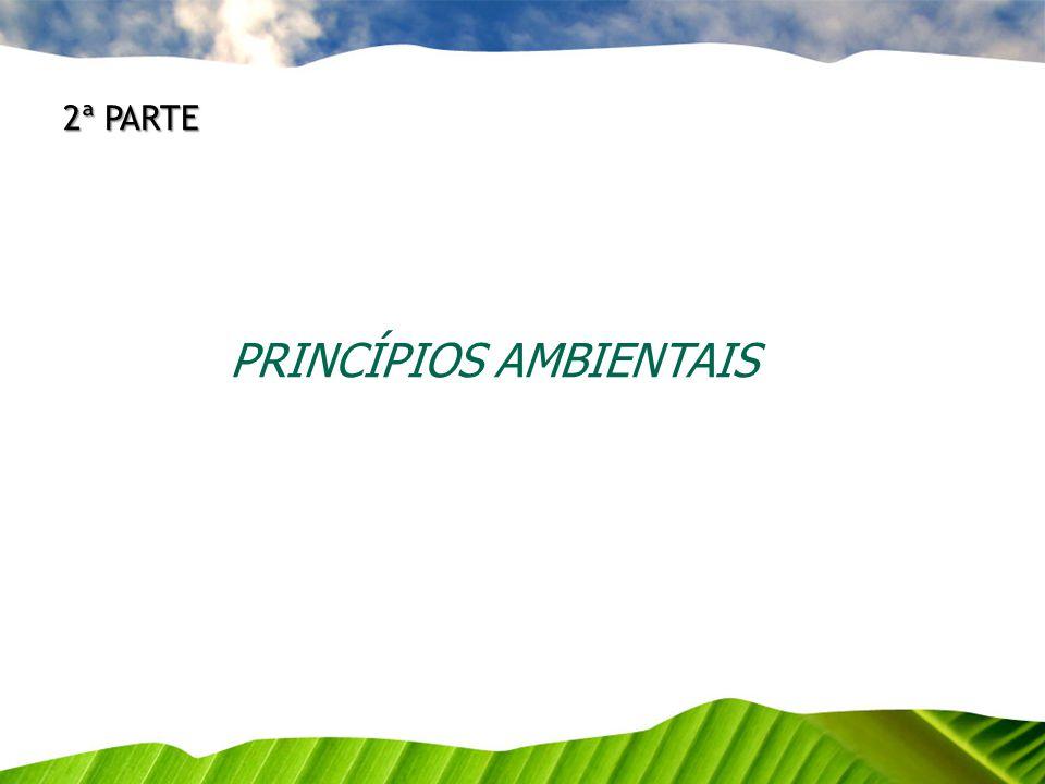 PRINCÍPIOS AMBIENTAIS