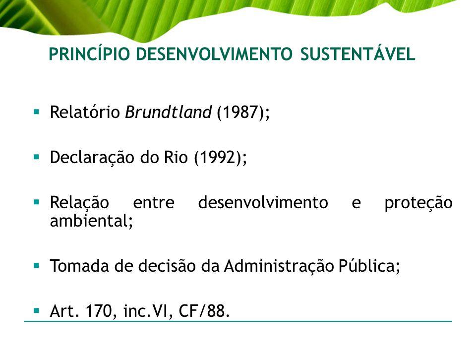 PRINCÍPIO DESENVOLVIMENTO SUSTENTÁVEL