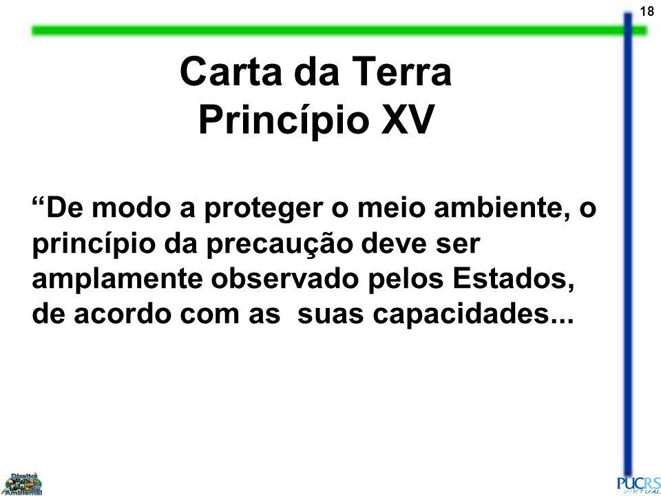 Carta da Terra Princípio XV