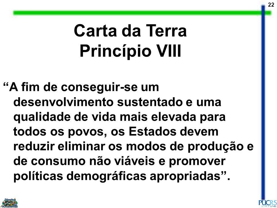 Carta da Terra Princípio VIII
