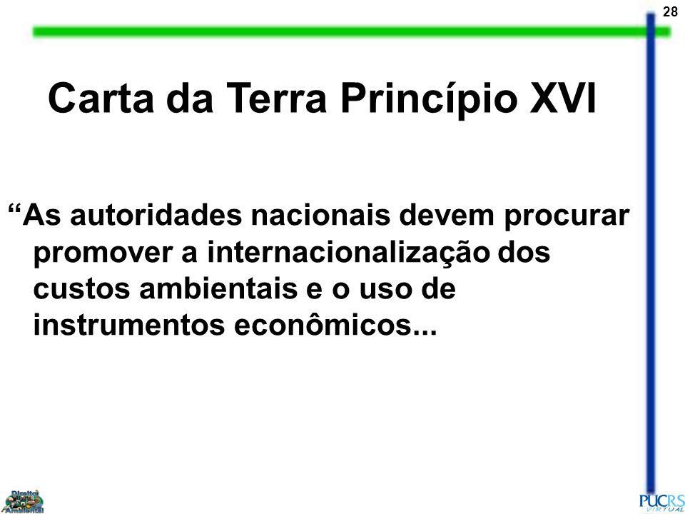 Carta da Terra Princípio XVI