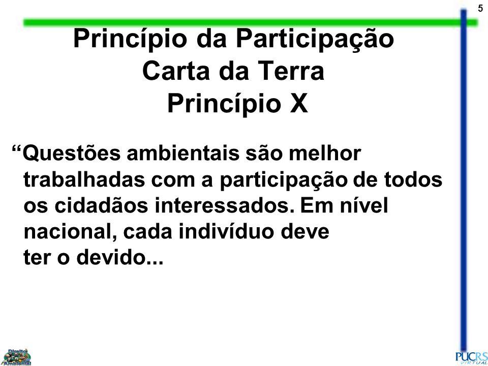 Princípio da Participação Carta da Terra Princípio X