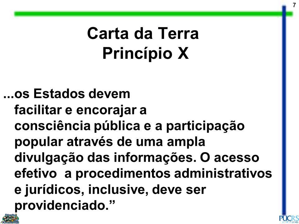 Carta da Terra Princípio X
