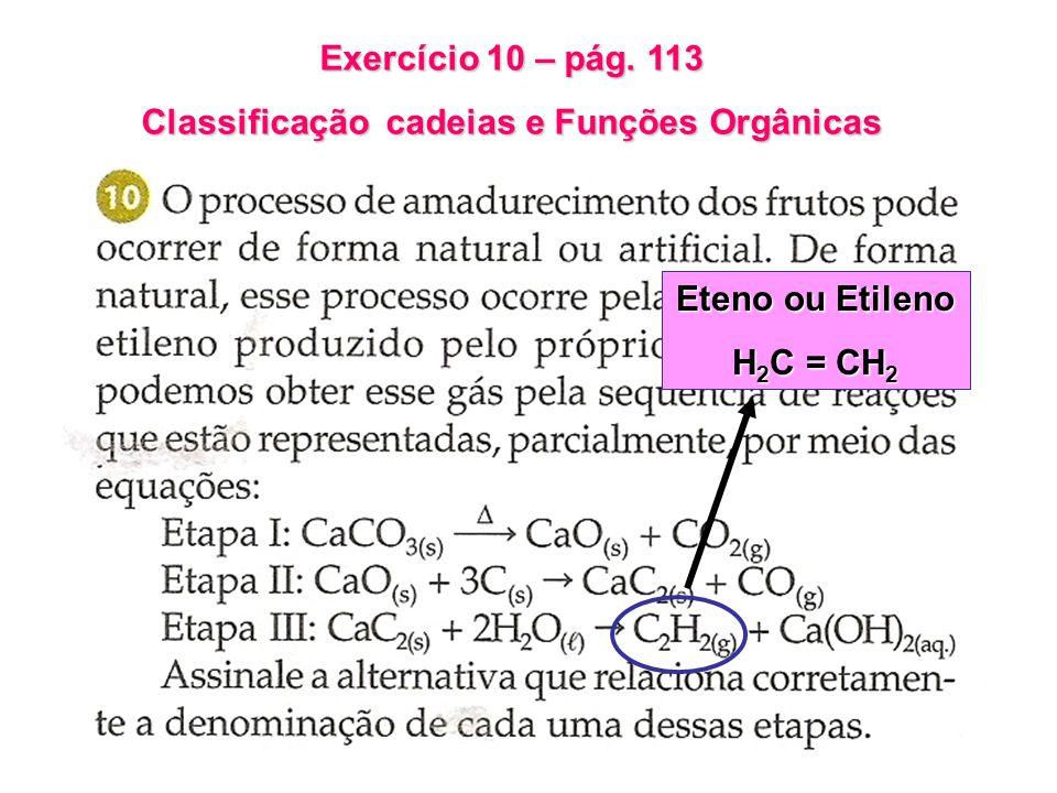 Classificação cadeias e Funções Orgânicas