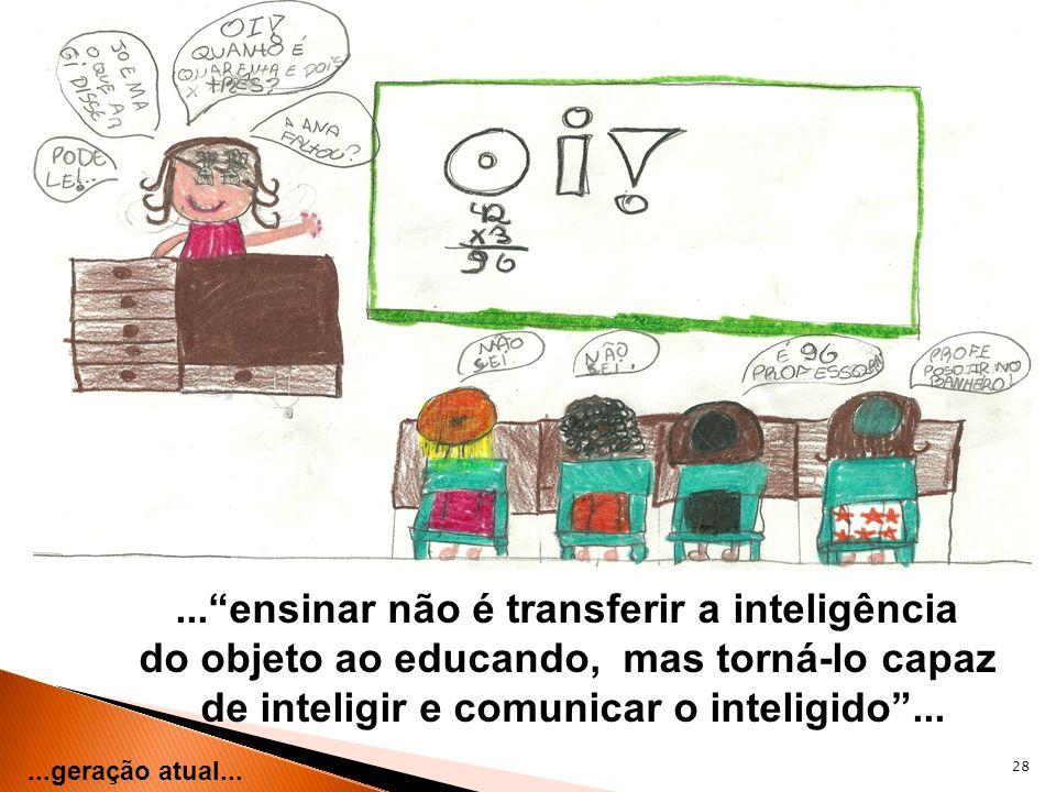 ... ensinar não é transferir a inteligência
