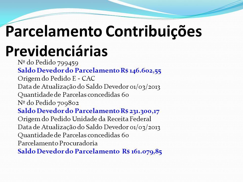 Parcelamento Contribuições Previdenciárias
