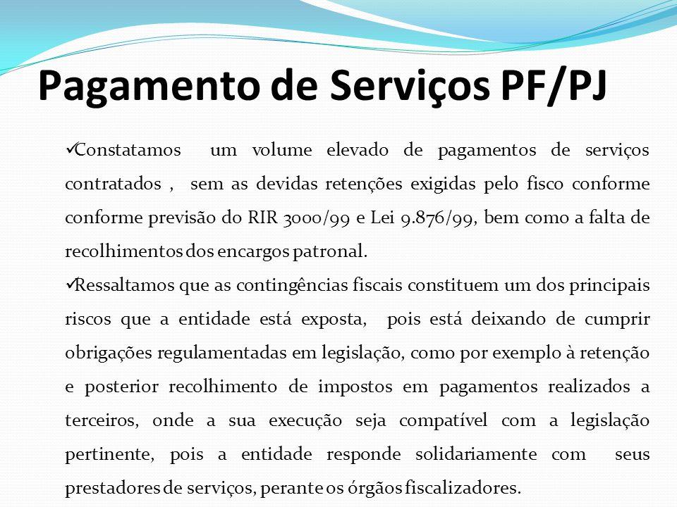 Pagamento de Serviços PF/PJ