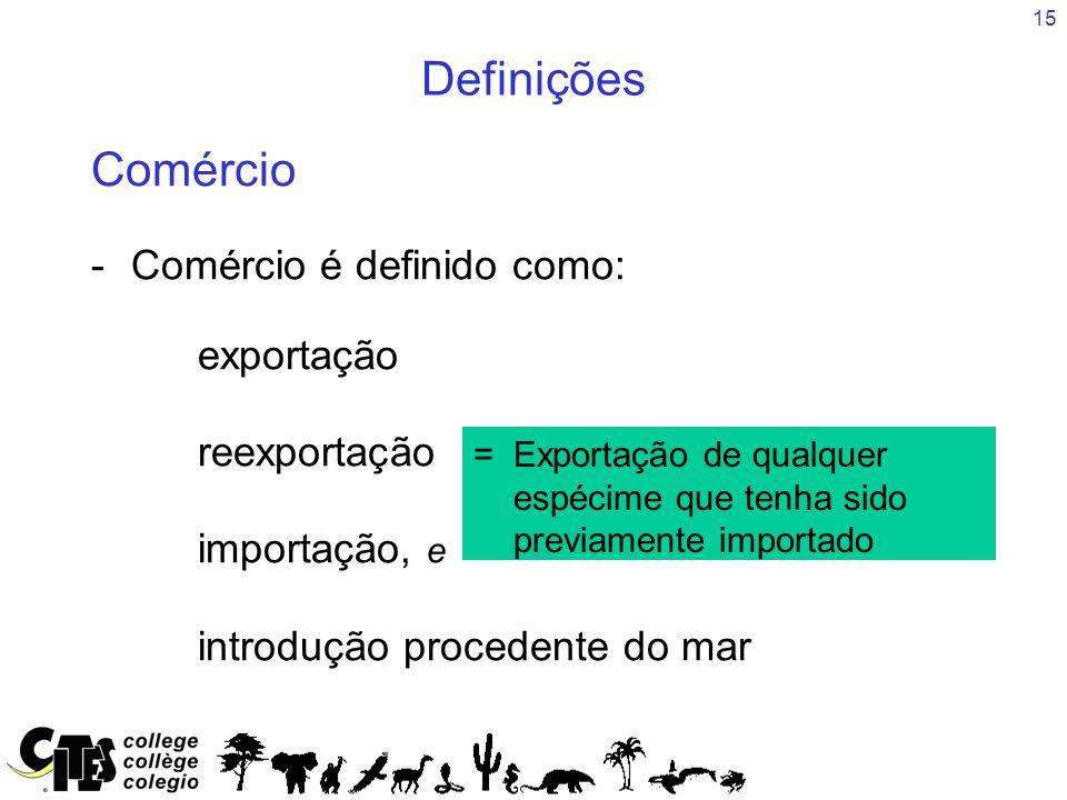 Definições Comércio - Comércio é definido como: exportação