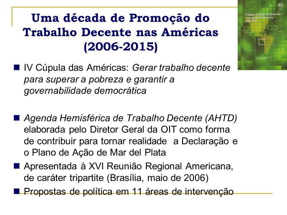 Uma década de Promoção do Trabalho Decente nas Américas (2006-2015)