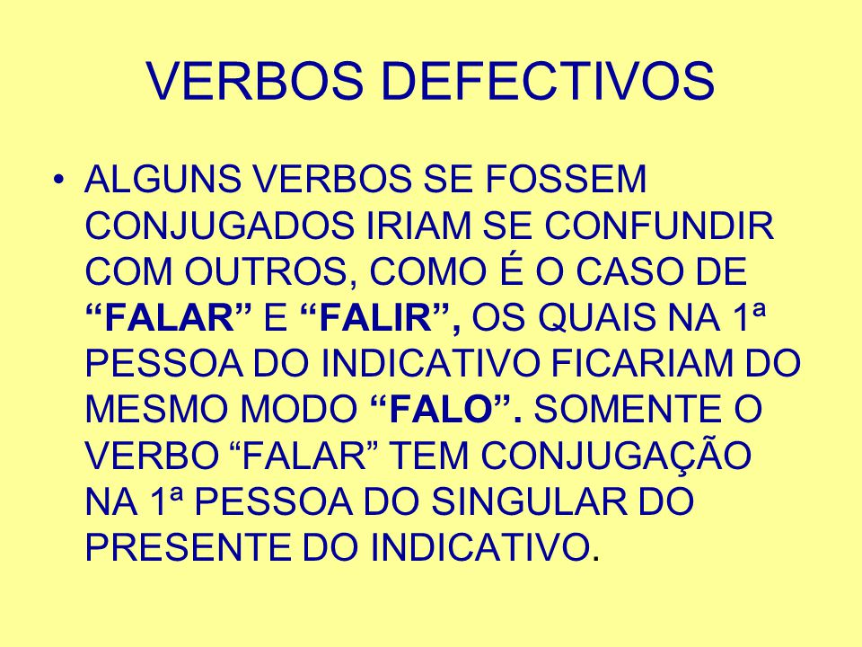 VERBOS DEFECTIVOS