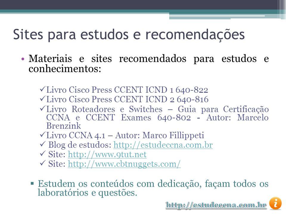 Sites para estudos e recomendações