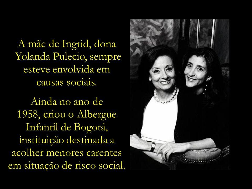 Yolanda Pulecio, sempre esteve envolvida em causas sociais.