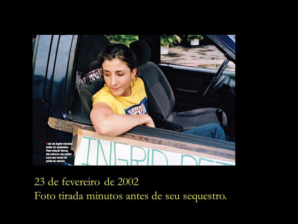 23 de fevereiro de 2002 Foto tirada minutos antes de seu sequestro.