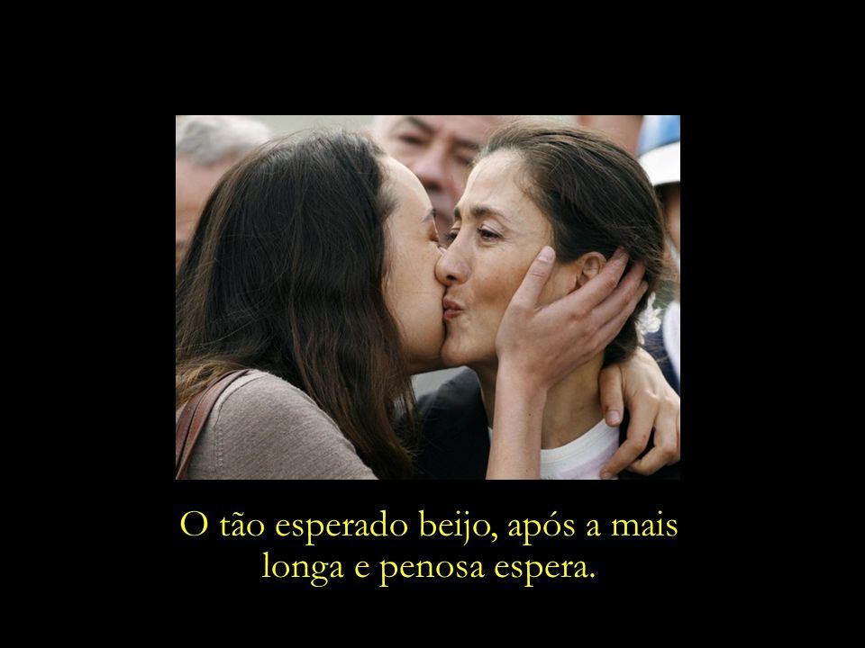 O tão esperado beijo, após a mais