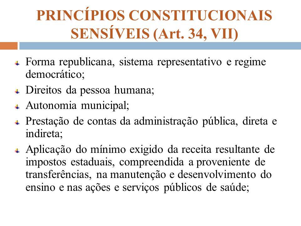 PRINCÍPIOS CONSTITUCIONAIS SENSÍVEIS (Art. 34, VII)