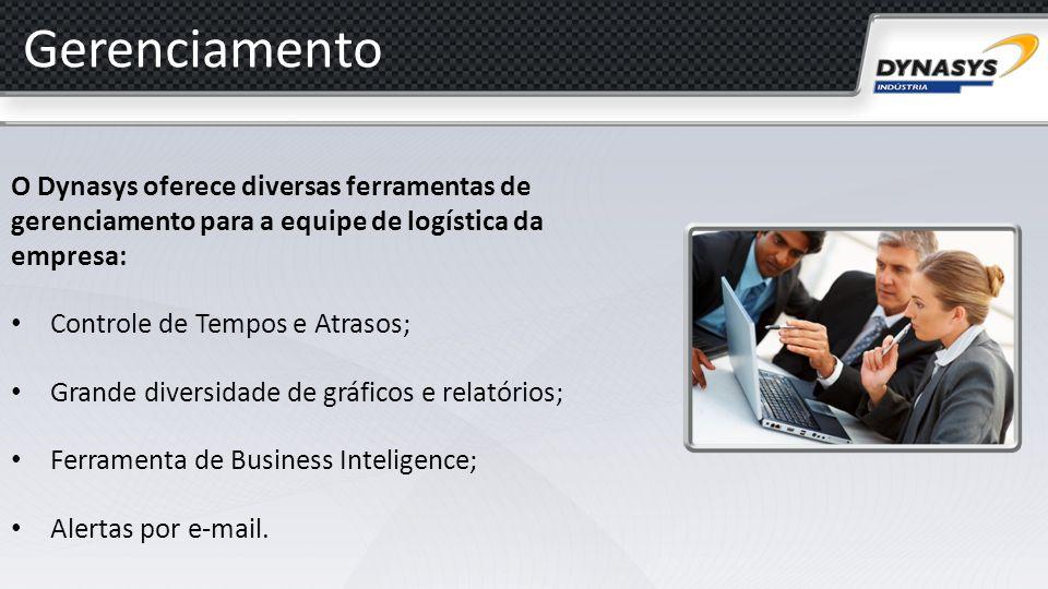 Gerenciamento O Dynasys oferece diversas ferramentas de gerenciamento para a equipe de logística da empresa: