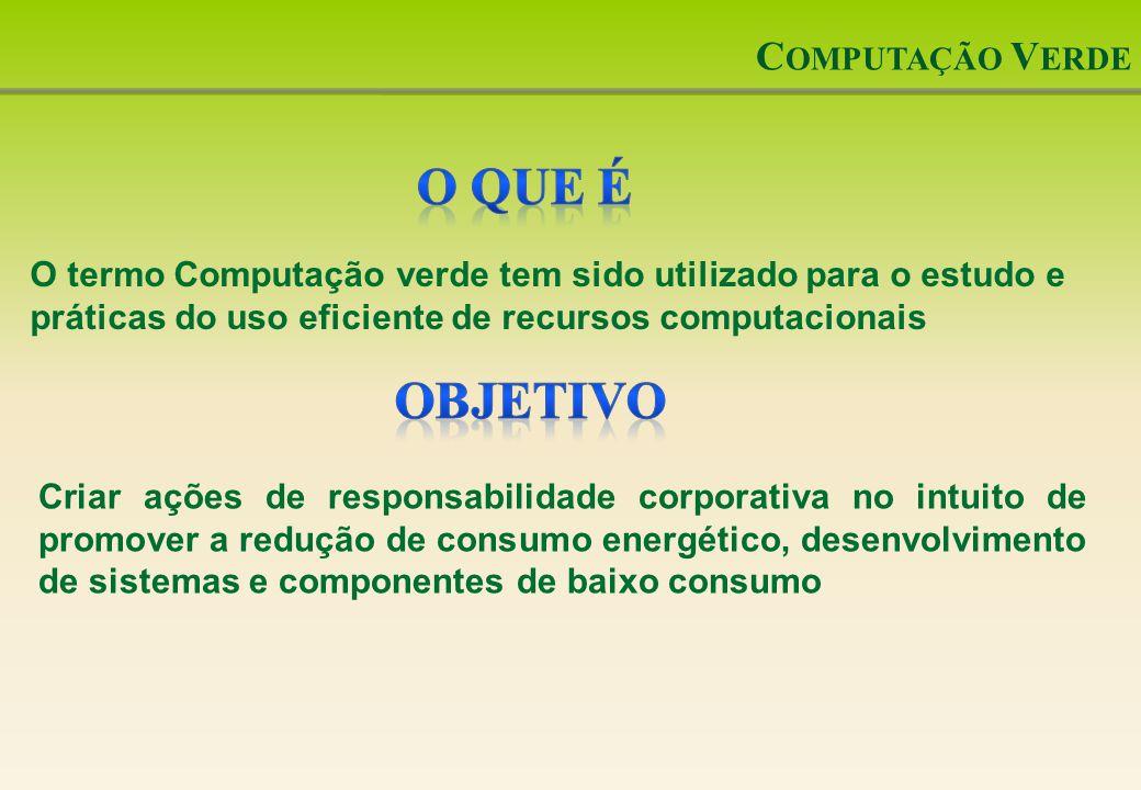 O que é Objetivo Computação Verde