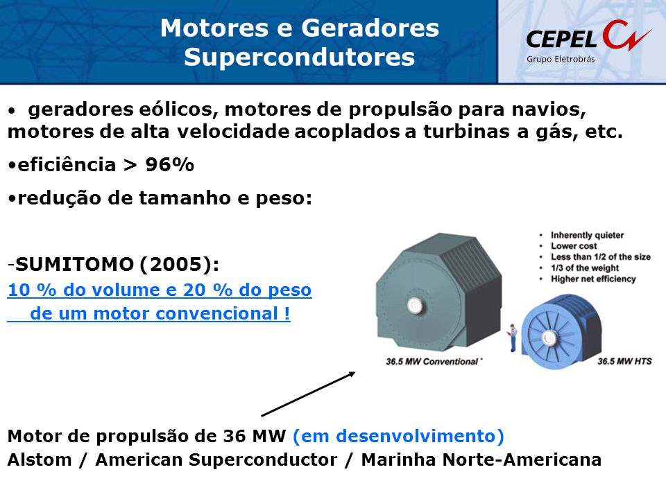Motores e Geradores Supercondutores