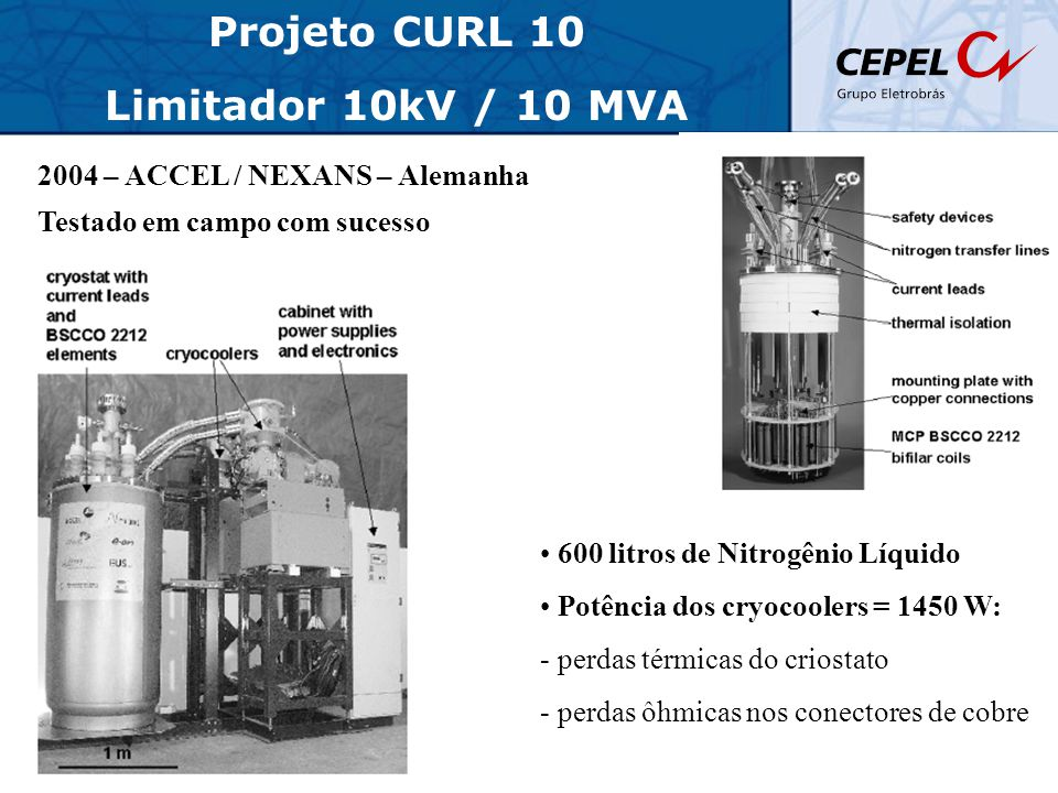 Projeto CURL 10 Limitador 10kV / 10 MVA