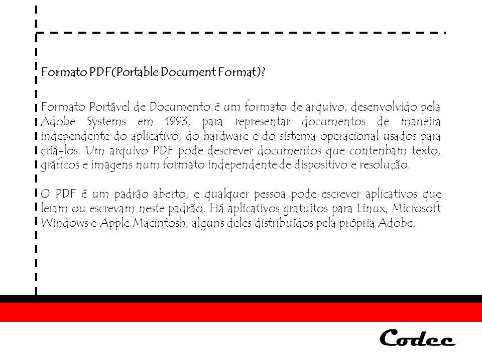 Codec Formato PDF(Portable Document Format)