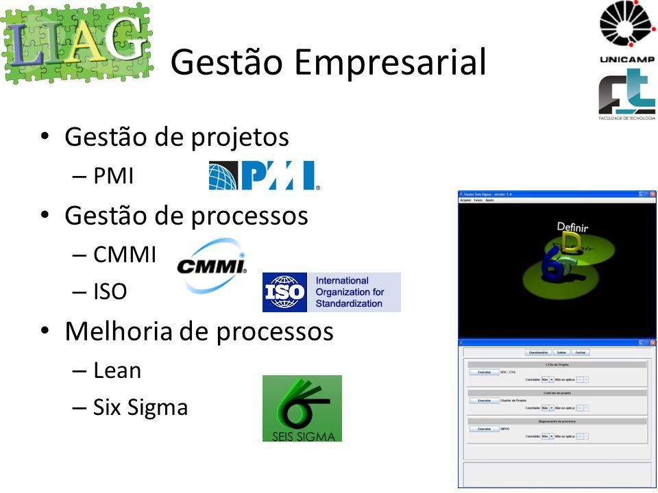 Gestão Empresarial Gestão de projetos Gestão de processos