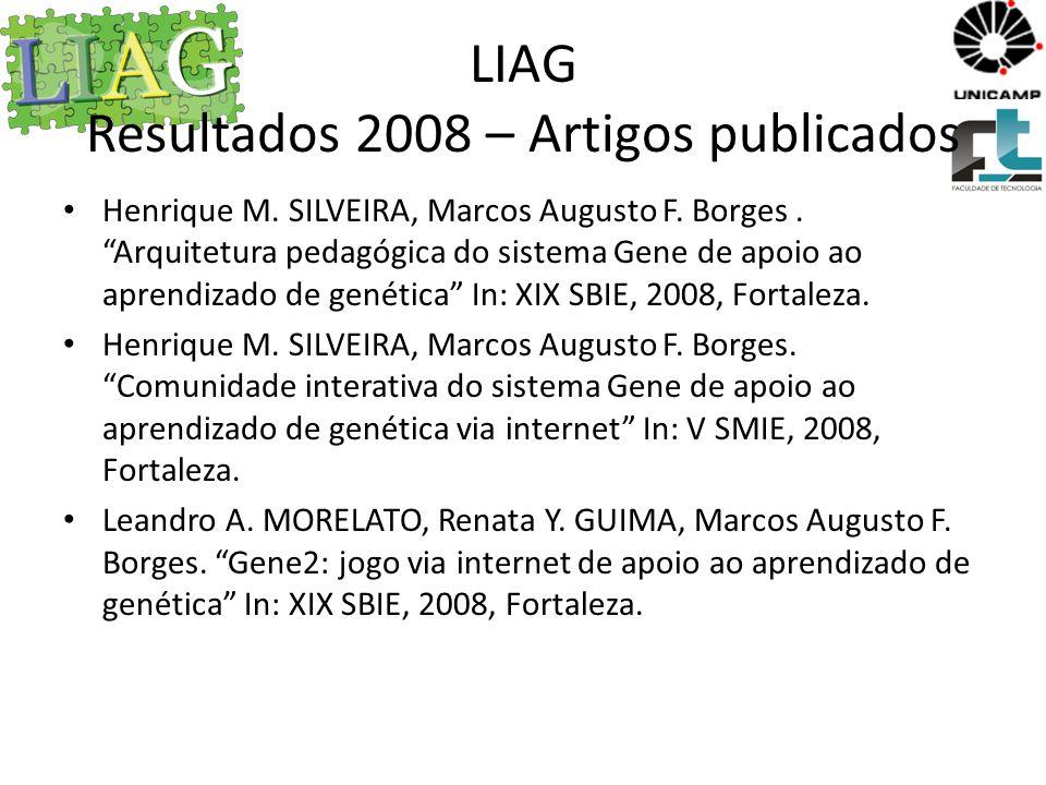 LIAG Resultados 2008 – Artigos publicados