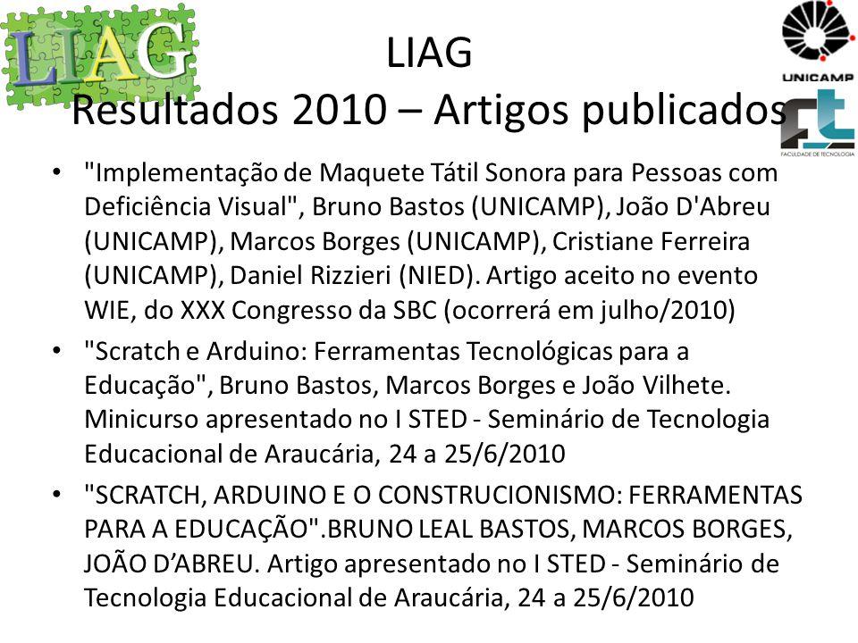 LIAG Resultados 2010 – Artigos publicados