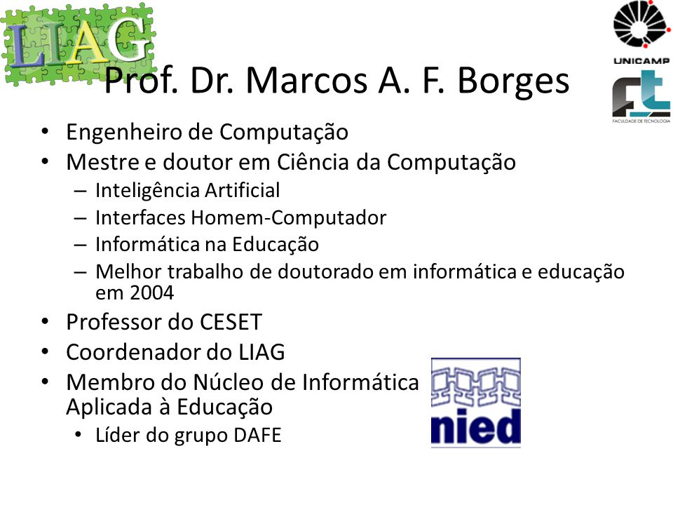 Prof. Dr. Marcos A. F. Borges