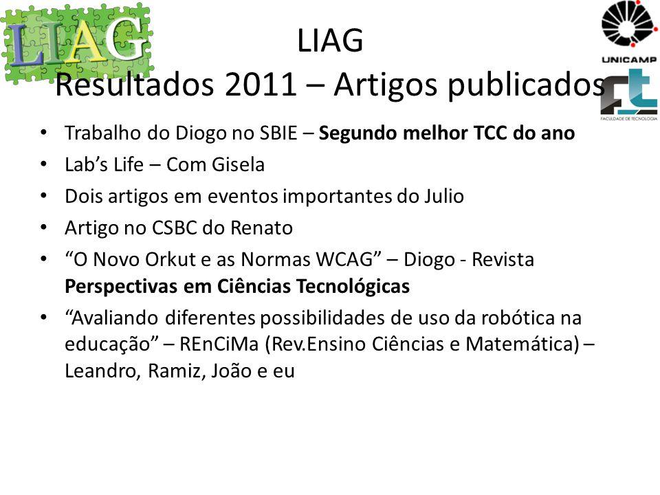 LIAG Resultados 2011 – Artigos publicados