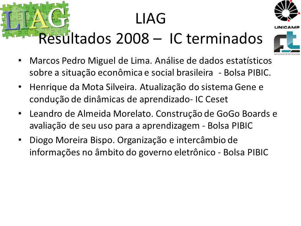 LIAG Resultados 2008 – IC terminados