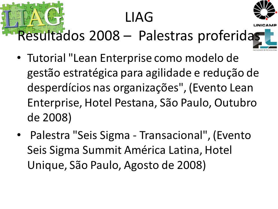 LIAG Resultados 2008 – Palestras proferidas