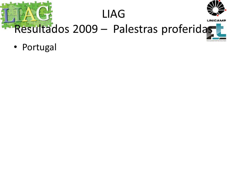 LIAG Resultados 2009 – Palestras proferidas
