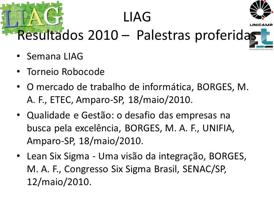 LIAG Resultados 2010 – Palestras proferidas