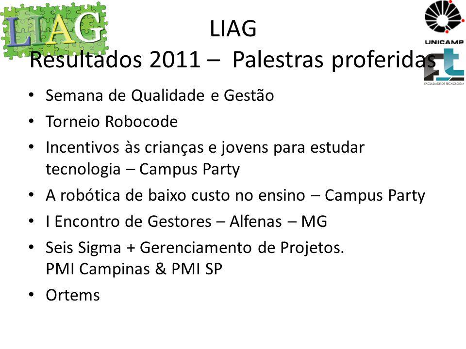 LIAG Resultados 2011 – Palestras proferidas