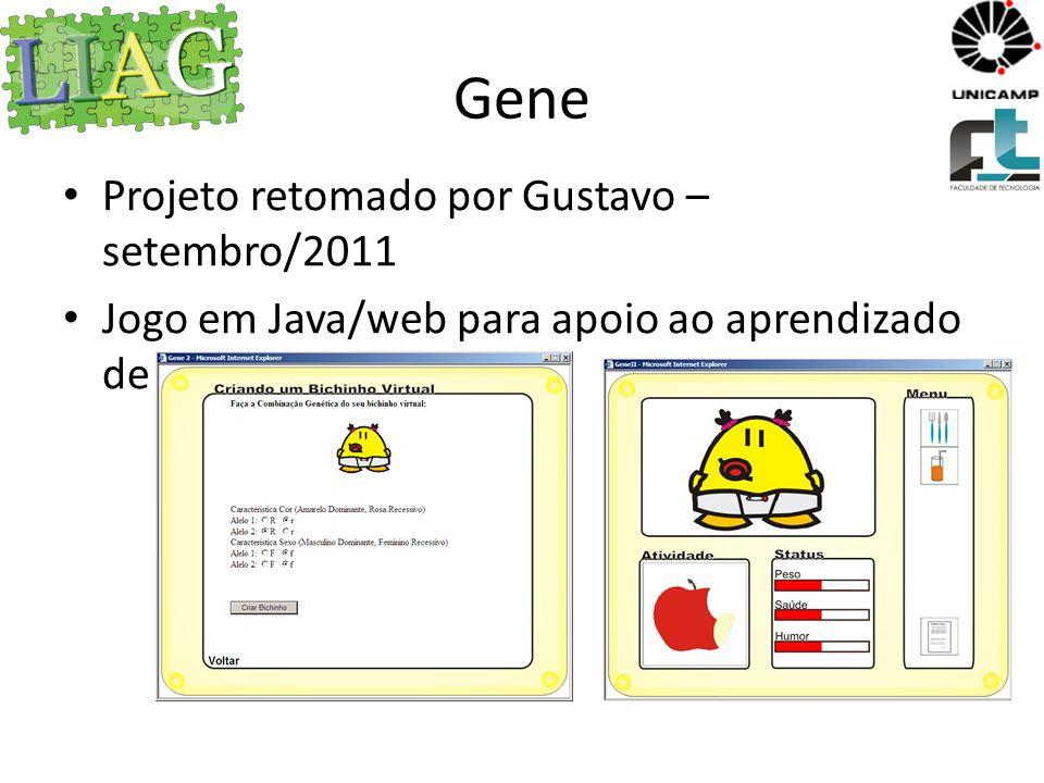 Gene Projeto retomado por Gustavo – setembro/2011