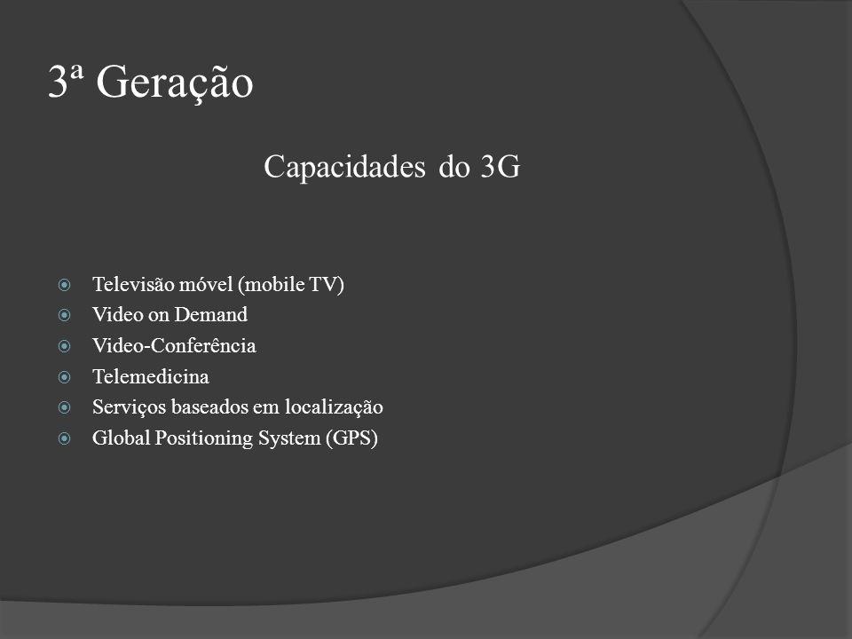 3ª Geração Capacidades do 3G Televisão móvel (mobile TV)