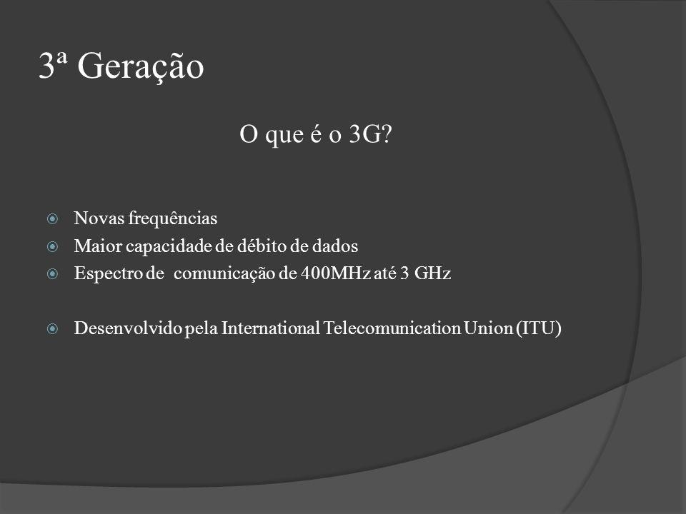 3ª Geração O que é o 3G Novas frequências