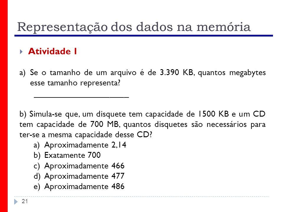 Representação dos dados na memória