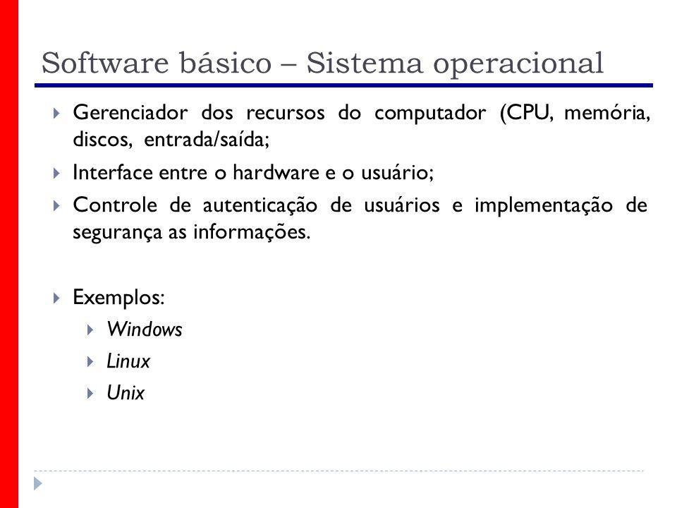 Software básico – Sistema operacional